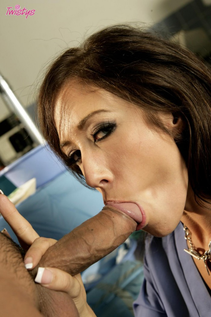 Capri Cavalli Sucking Cock